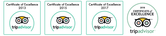 trip advisor cert of excellence x4